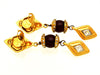 Vintage Chanel earrings rhinestone rhombus dangle