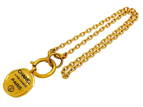 Vintage Chanel necklace 31 Rue Cambon plate
