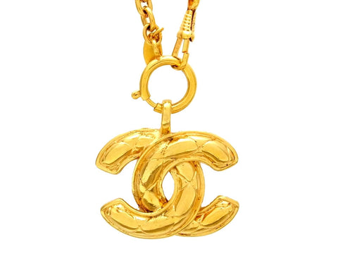 Vintage Chanel necklace CC logo as seen on Nicole Richie
