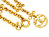 Vintage Chanel necklace CC logo hoop clover