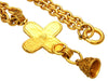 Vintage Chanel necklace CC logo cross bell dangle