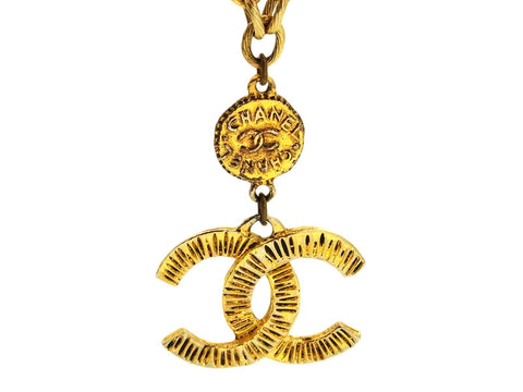 Vintage Chanel necklace CC logo and medal