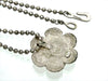 Vintage Chanel necklace camellia flower silver color