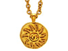 Vintage Chanel necklace CC logo sun round
