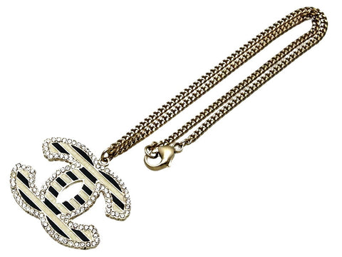 chanel necklace. vintage chanel necklace cc logo rhinestone