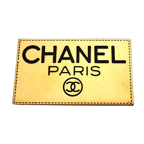 Authentic Vintage Chanel pin brooch Letter CC logo Plate