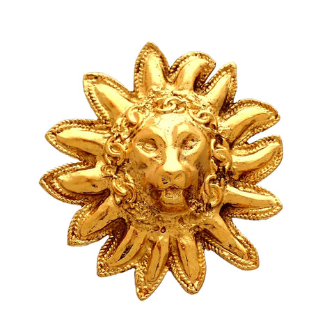 Authentic Vintage Chanel pin brooch Lion