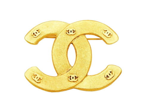 Authentic vintage Chanel pin brooch CC logo & small double C jewelry