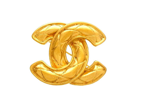 Vintage Chanel pin brooch CC logo double C