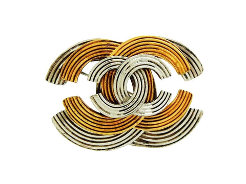 Vintage Chanel pin brooch triple CC logo
