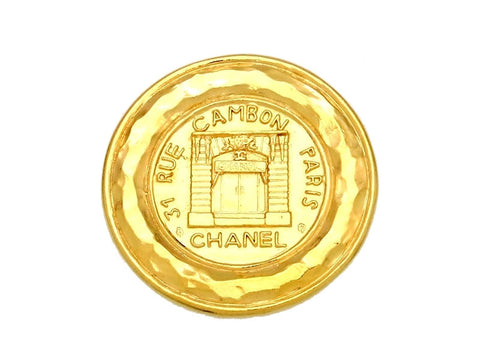 Vintage Chanel pin brooch rue cambon paris medal