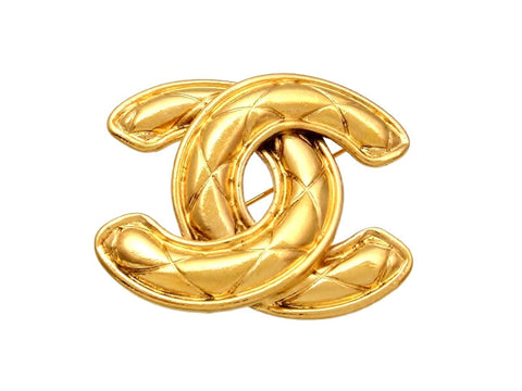 Vintage Chanel pin brooch CC logo large