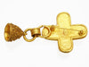Vintage Chanel pin brooch CC logo cross bell dangle