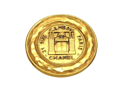 Vintage Chanel pin brooch 31 Rue Cambon Paris medallion