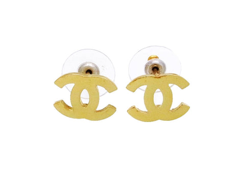 Vintage Chanel stud earrings CC logo double C