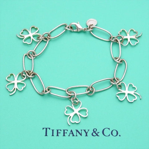 pre-owned Tiffany & Co cuff bracelet bangle 5 clover chain