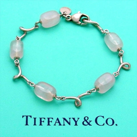 Pre-owned Tiffany & Co bracelet pink rose stone rare