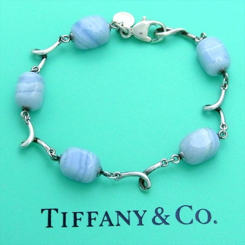 Pre-owned Tiffany & Co bracelet blue stone rare
