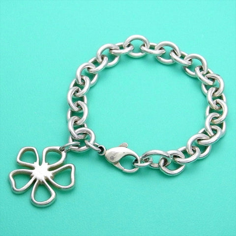 Pre-owned Tiffany & Co bracelet flower large chain rare