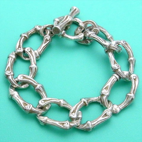 Pre-owned Tiffany & Co bracelet bamboo large chain rare