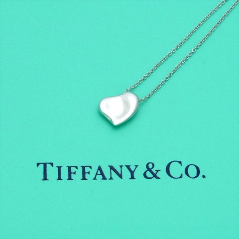 pre-owned Tiffany & Co chain necklace pendant Elsa Peretti full heart