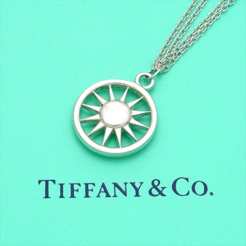Pre-owned Tiffany & Co double chain necklace pendant Sun