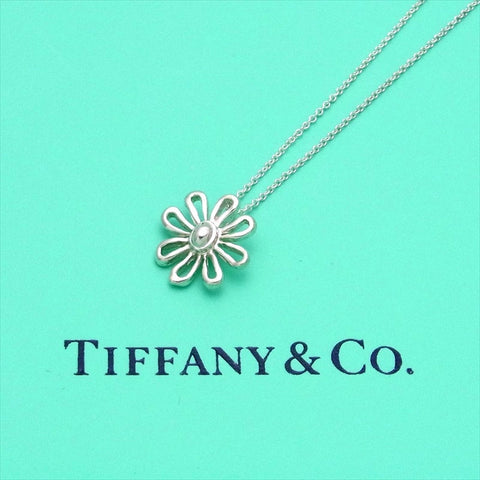Pre-owned Tiffany & Co chain necklace pendant Paloma Picasso Daisy flower