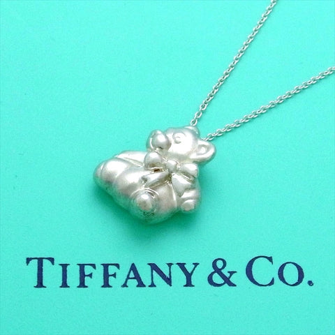 Pre-owned Tiffany & Co necklace Teddy Bear