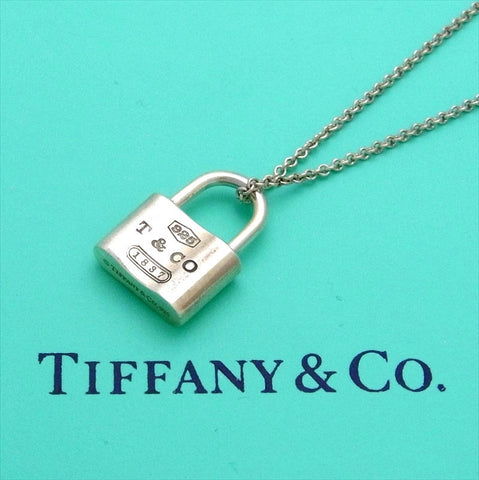Pre-owned Tiffany & Co necklace padlock 1837