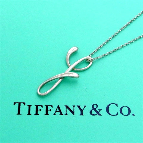 Pre-owned Tiffany & Co necklace Elsa Peretti Alphabet Letter Y