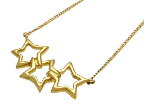 Pre-owned Tiffany & Co jewelry necklace triple star 18K Gold