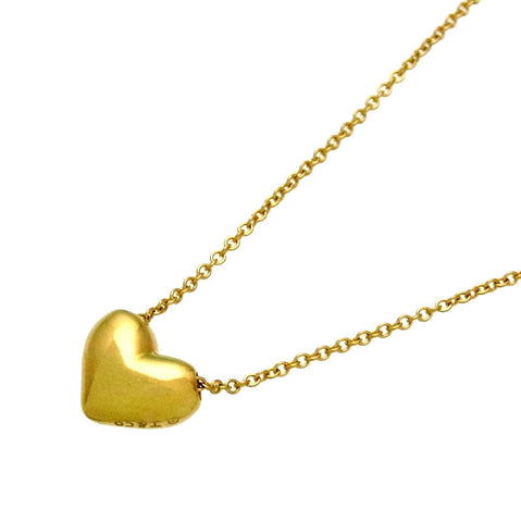 Pre-owned Tiffany & Co necklace puffed heart 18K Gold