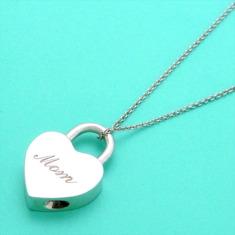 Pre-owned Tiffany & Co necklace heart lock MOM