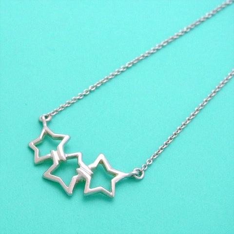 Pre-owned Tiffany & Co necklace triple star