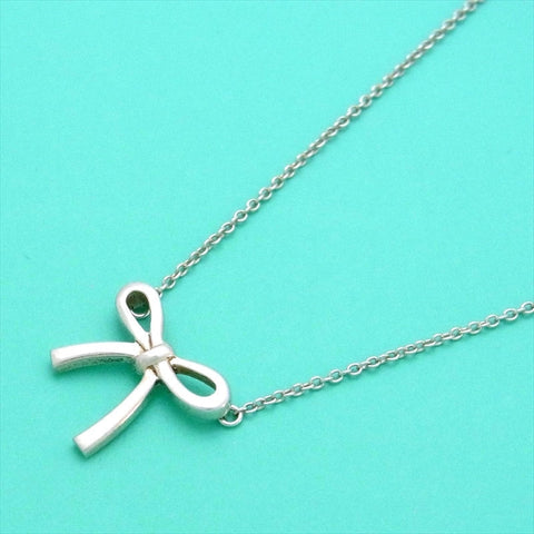Pre-owned Tiffany & Co necklace bow ribbon
