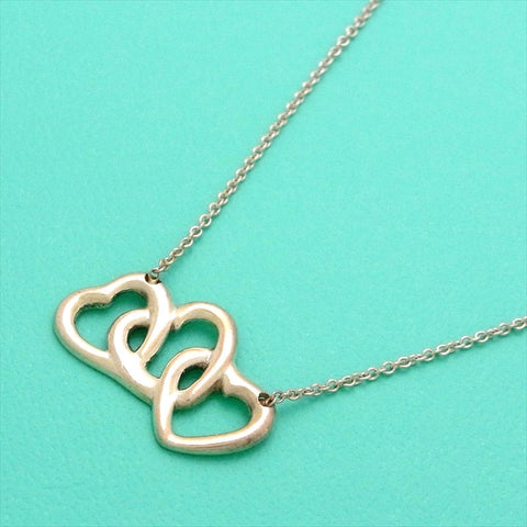 Pre-owned Tiffany & Co necklace Elsa Peretti triple heart