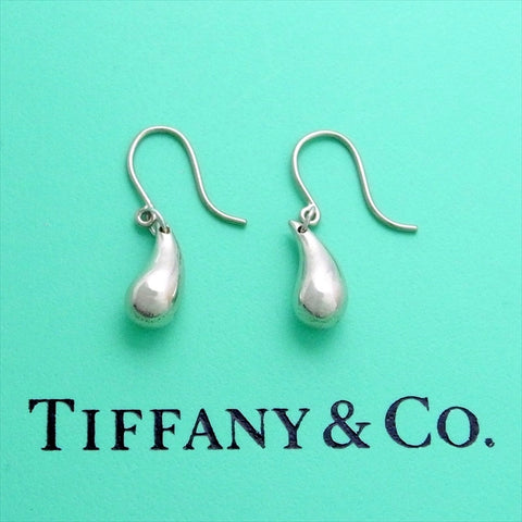 Pre-owned Tiffany & Co stud earrings Elsa Peretti tear drop dangle