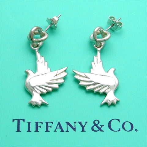 Pre-owned Tiffany & Co stud earrings Paloma Picasso Dove Eagle Bird dangle