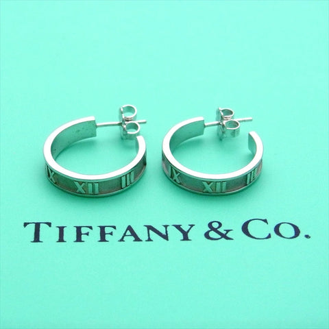 Pre-owned Tiffany & Co stud earrings Atlas hoop