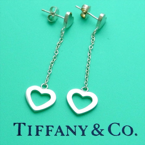 Pre-owned Tiffany & Co stud earrings heart dangle