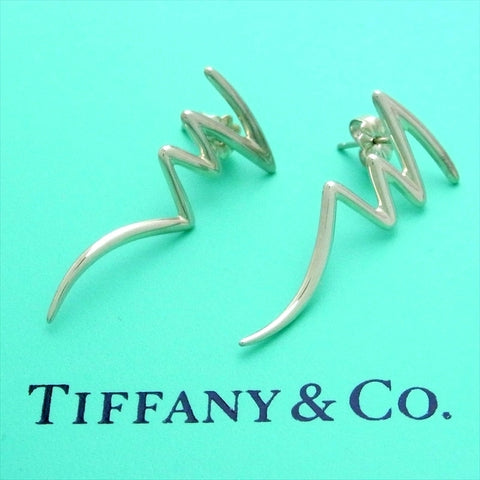 Pre-owned Tiffany & Co stud earrings Paloma Picasso Zig Zag