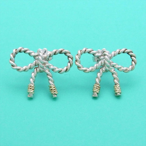 Pre-owned Tiffany & Co stud earrings ribbon