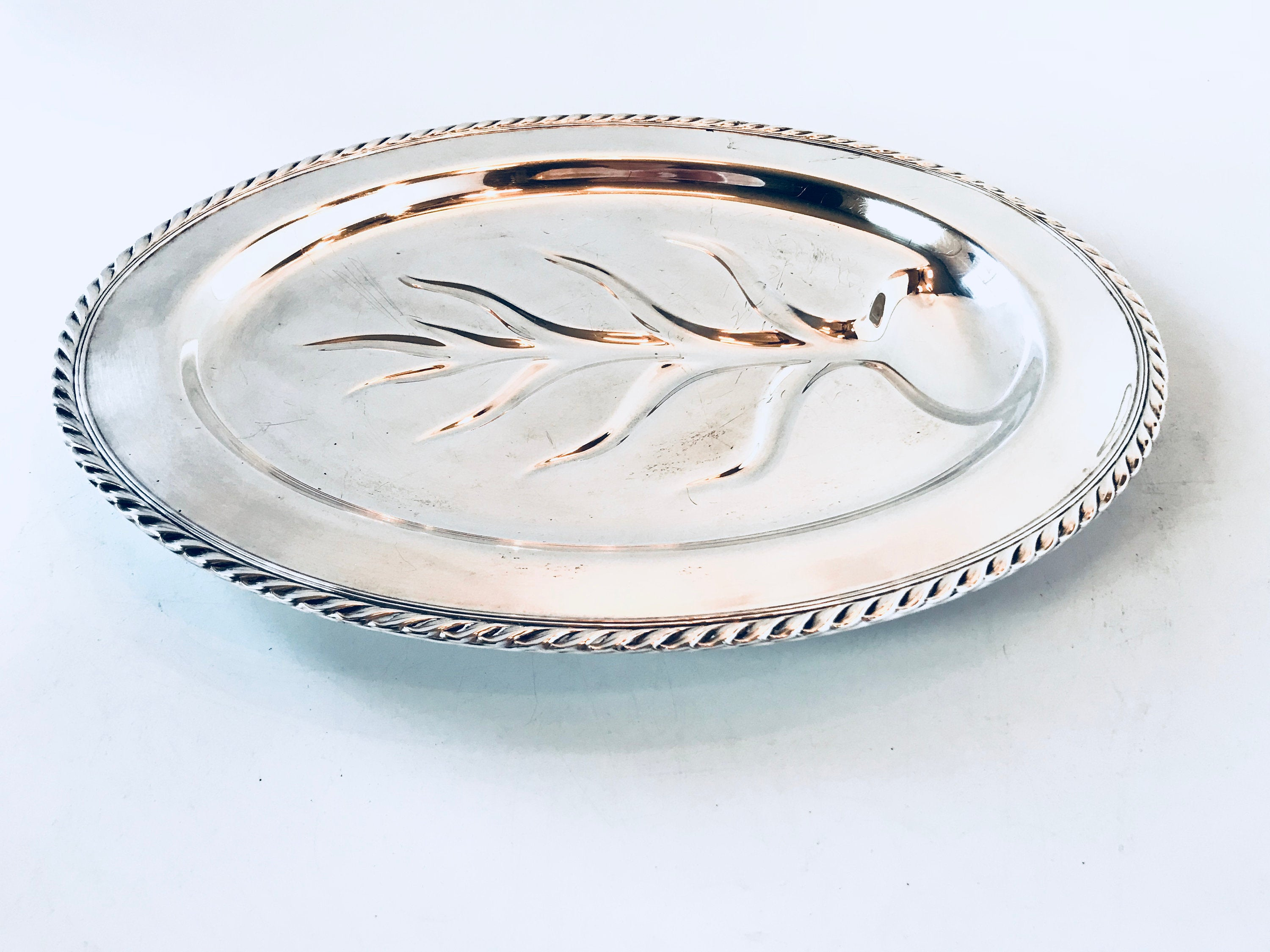 William Rogers Silver Plated Fenwick Meat Tray