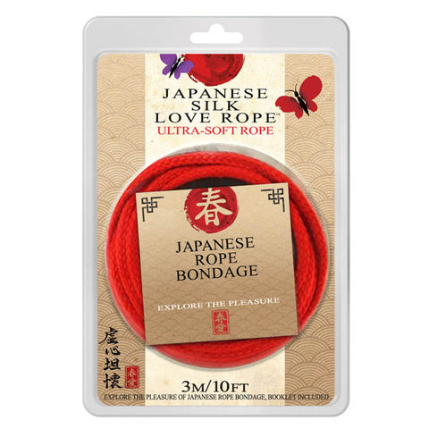 Japanese Silk Love Rope - Red Bondage Rope - 3 metre