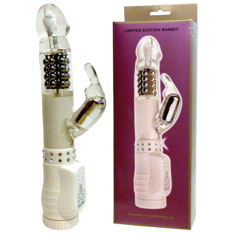 Limited Edition Rabbit - White 15.2 cm (6'') Rabbit Pearl Vibrator