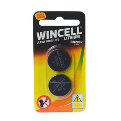 Wincell CR2032 Batteries - Lithium Cell Batteries - CR2032 2 Pack
