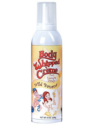 Body Whipped Creme - Wild Banana Flavoured Whipped Cream - 8 oz Bottle