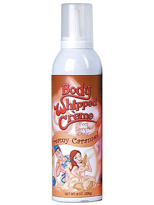 Body Whipped Creme - Creamy Caramel Flavoured Whipped Cream - 8 oz Bottle 