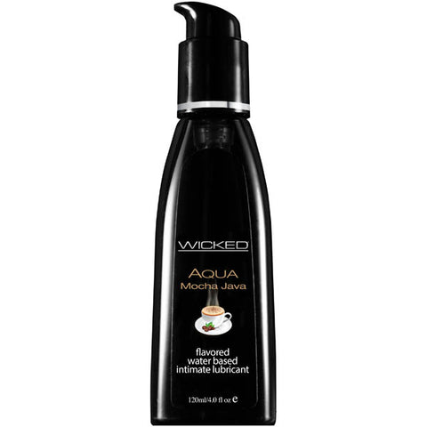 Wicked Aqua Mocha Java - Mocha Java Flavoured Water Based Lubricant - 120 ml (4 oz) Bottle