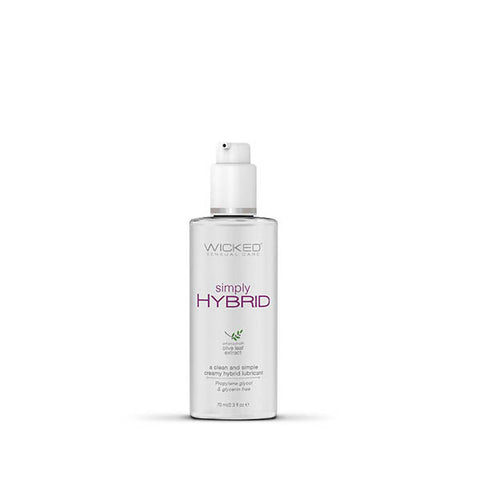 Wicked Simply Hybrid - Water & Silicone Blended Lubricant - 70 ml (2.3 oz) Bottle